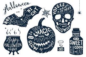 Halloween lettering set