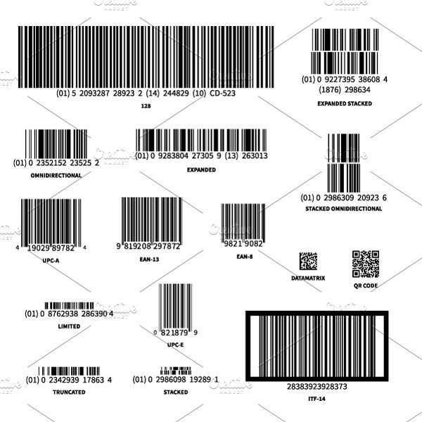 Different barcodes on white ~ Graphic Objects ~ Creative