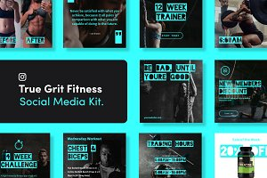 True Grit Fitness Social Media Kit