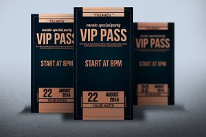 Elegant leather style VIP PASS card