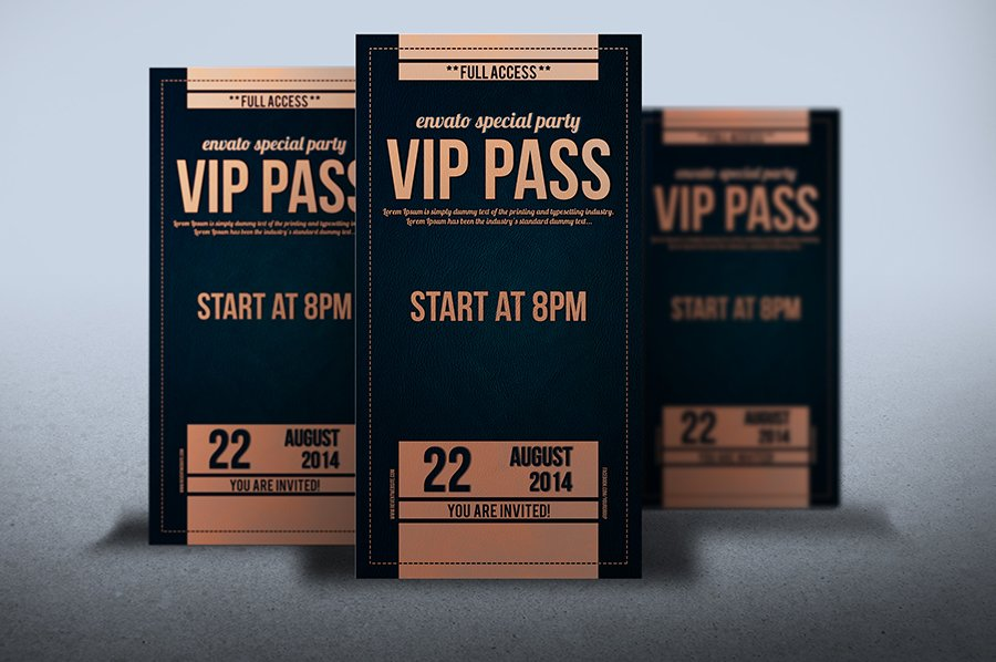 Vip Pass Elegant leather...