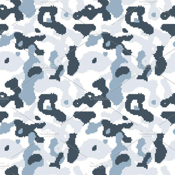 Snow Pixelated Camouflage