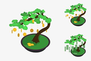 Money tree illustration