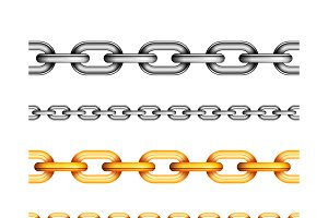 Set of different seamless chains