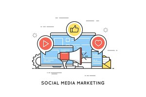Social media marketing, SMM, network communication, internet adv