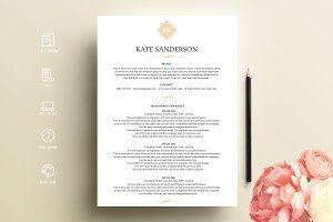 resume template with logo