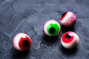 Jelly eyeballs on dark