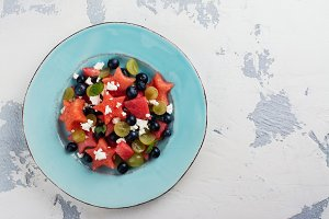 Fresh watermelon salad