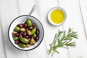 Greek olives in a bowl