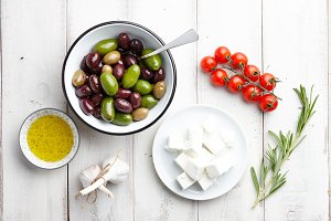 Greek cuisine ingredients