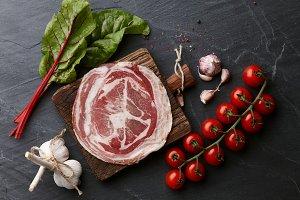 Spanish smoked serrano ham