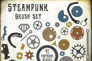 Steampunk Watch & Gear Brushes +
