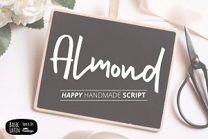 Almond Hand Lettering Script Fonts