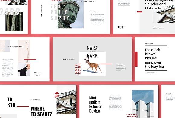 Roka Powerpoint Template Presentation Templates Creative Market