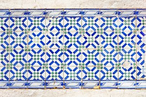 Portuguese tiles azulejo