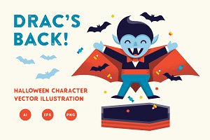 Drac's Back! Vector Illustration