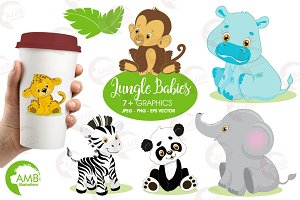 Jungle Animal Babies Clipart AMB-131