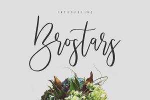 Brostars Typeface