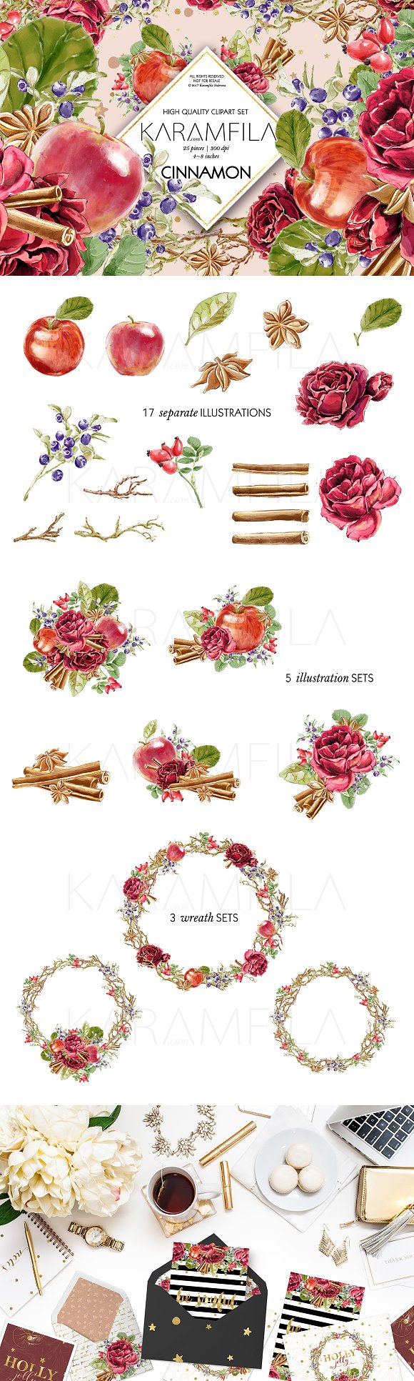 Cinnamon And Apples Clipart