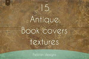 antique book cover textures