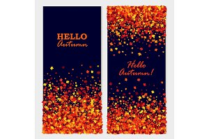 Hello Autumn banners