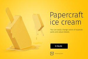 Papercraft ice cream