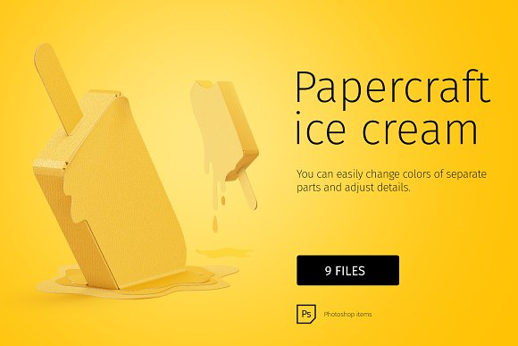 Papercraft Ice Cream