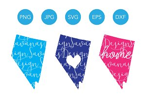 Nevada SVG Cut Files and Clipart