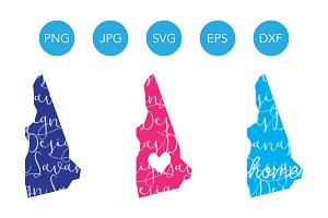 New Hampshire SVG Cut Files Clipart