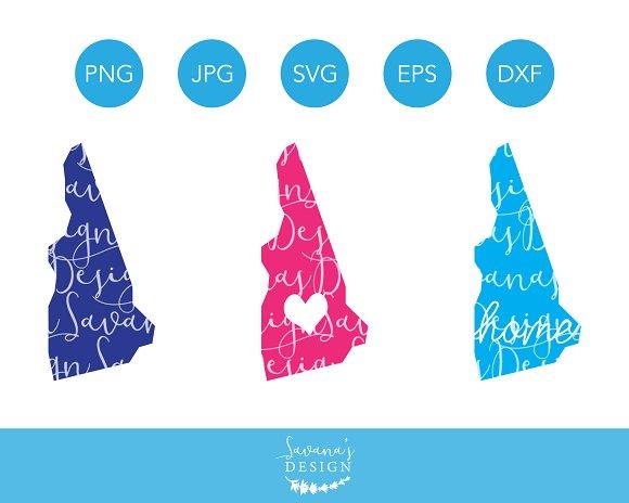 New Hampshire SVG Cut Files Clipart