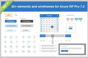 30+ elements for Axure Pro 7.0 Vol.1