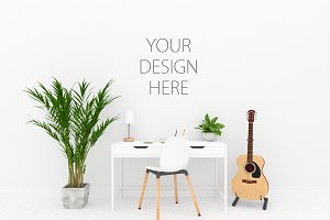 Interior mockup - desk mock up