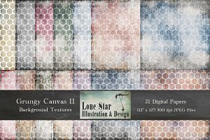 Grungy Canvas Large Dot Textures II