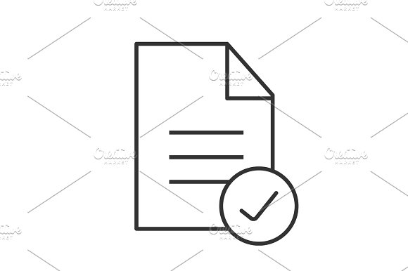 Approved Document Linear Icon