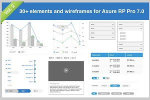 30+ elements for Axure Pro 7.0 Vol.2