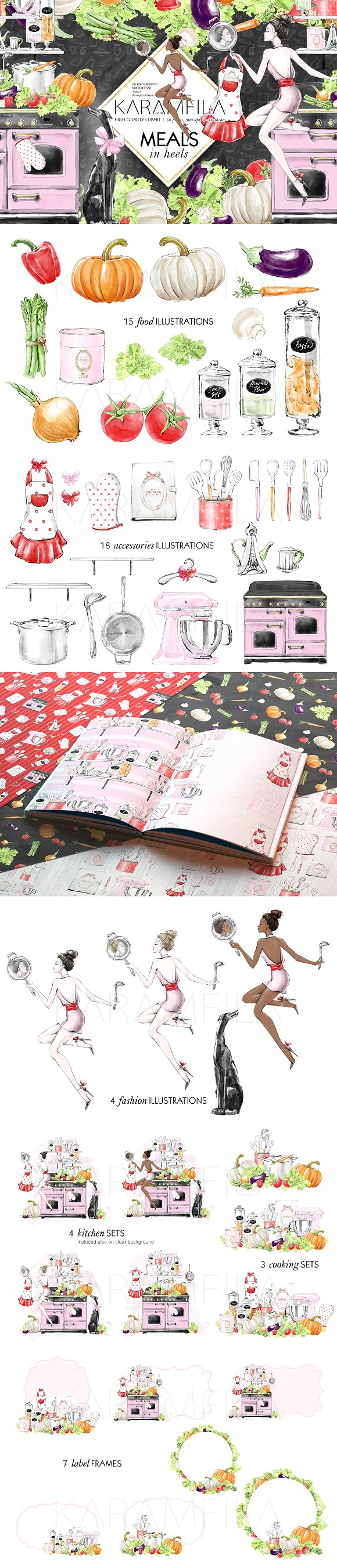 Kitchen Clipart Cooking Girl Clipart