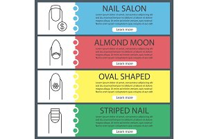 Manicure web banner templates set