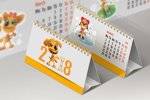 2018 yellow dog calendar