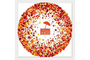Autumn sale greeting card