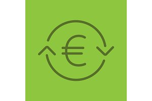 Euro exchange linear icon