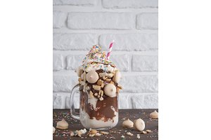 freakshake with copy space