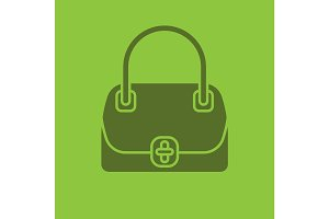 Women's handbag glyph color icon