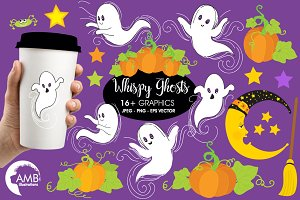 Whispy Halloween Ghosts  AMB-142