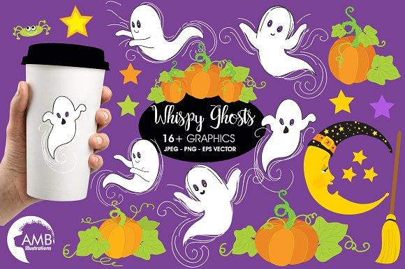 Whispy Halloween Ghosts AMB-142
