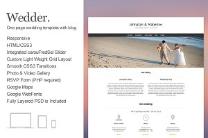 Wedder - One Page Wedding Template