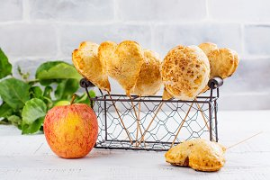 Homemade apple cake pops
