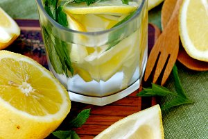 Lemon and Mint Beverage