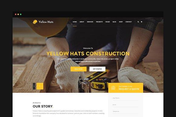 Yellow Hats Construction PSD