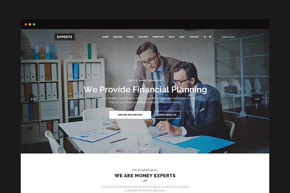 Experts Finance PSD Template