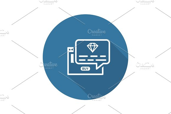 One Time Offer Icon Flat Design